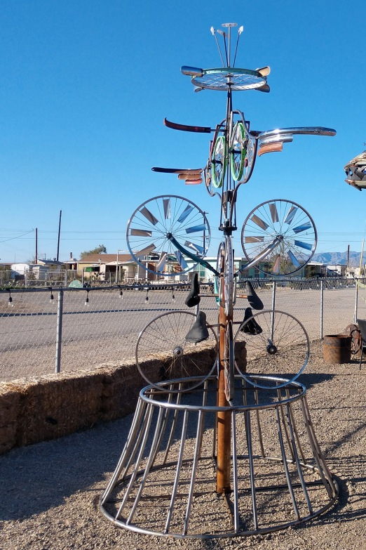 Bike Rack at Bombay Beach